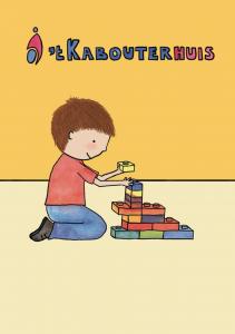Voorkant van het boekje 'Bas naar 't Kabouterhuis', makkelijk leesbaar voor kinderen