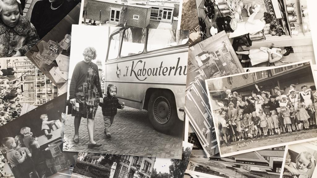 Compilatie van oude foto's van 't Kabouterhuis, met prinses Beatrix