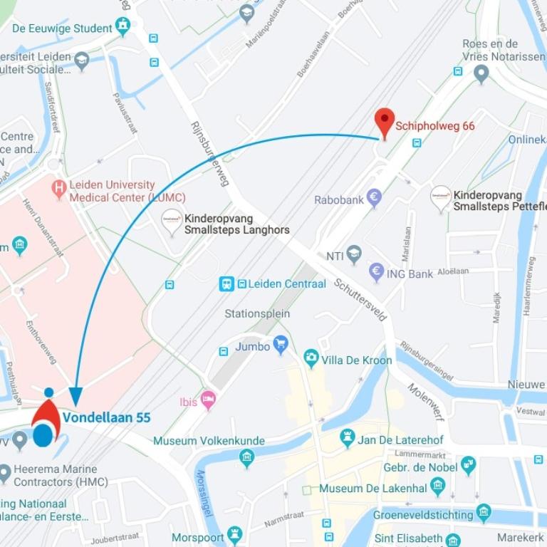 Locatie Leiden verhuist per 1 januari 2020